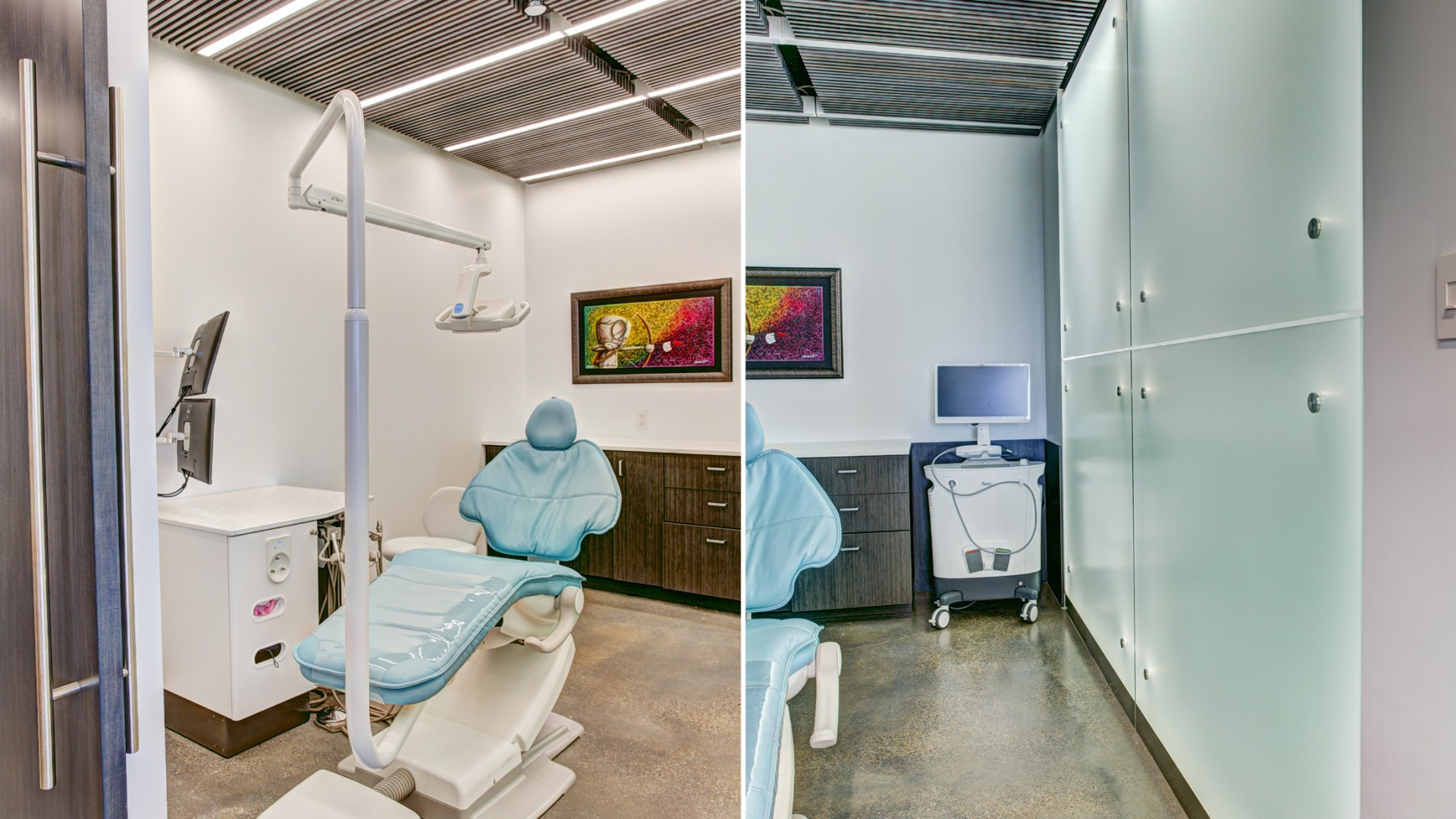 Private Treatment Room, Impressionless Scanner and Photolight Wall